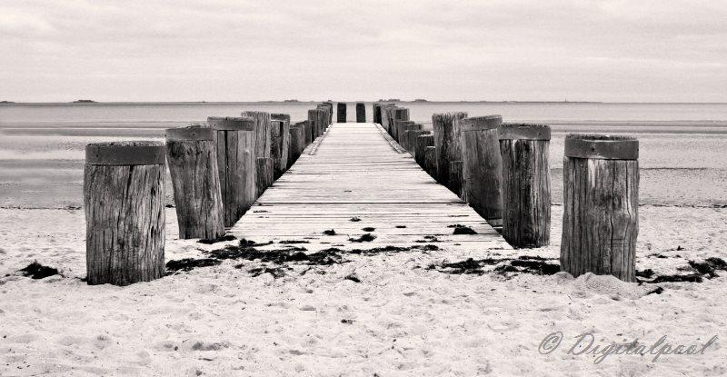 Seebrücke auf der Insel Föhr